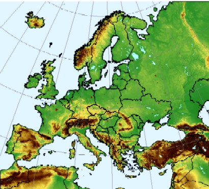 Elevation Map Of Europe Map: european commission