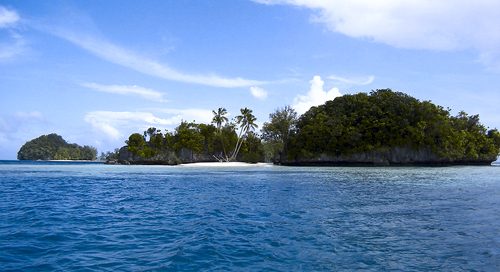 Rock Islands, Palau: Photograph by Peter R. Binter. Courtesy of Wikipedia.