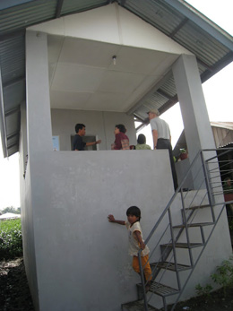 Communal wash facilities/toilets in a flood plain of peri-urban Medan, Indonesia.: Photograph courtesy of Jay Graham