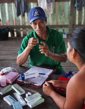 Association for Amazon Development and Conservation (ACDA): Association for Amazon Development and Conservation (ACDA) volunteer community health workers provide contraceptive methods to community members to prevent unwanted pregnancies, and condoms to prevent sexually transmitted infections, including HIV. As word of this program travels, ACDA continues to receive requests from other villages to further expand the program.
