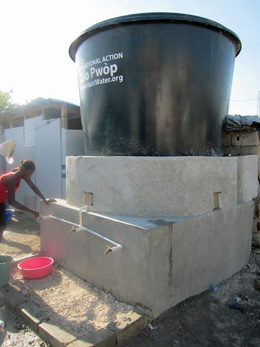 Haiti: Camp water system for internally displaced persons (IDP): Photograph courtesy of Jay Graham