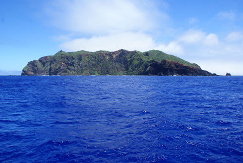 Pitcairn is the only inhabited island in the chain, with a population of just over 50 people.: The majority are descendants of the mutineers of the British Royal Navy's HMS Bounty, who settled Pitcairn with Tahitian companions in 1790. Photograph by Andrew Christian
