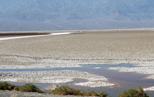 Badwater Basin, lowest elevation in the Western He: Photograph by Dennis Bazylinski and Christopher Lefèvre