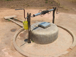 Windlass used to raise water from the well: from images on Water, sanitation and hygiene in Zambian schools. Photograph courtesy of Jay Graham