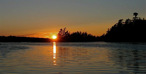 Sunset of Kejimkujik Lake, Kejimkujik National Park.: Photograph by Katie McLean for the Clean Annapolis River Project