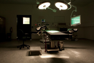 One of six operating rooms at Hôpital Universitaire de Mirebalais.: Photograph by Jon Lascher/Partners In Health