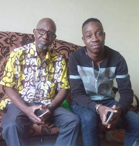 Rasmané Ouedraogo and his son, Zakaria