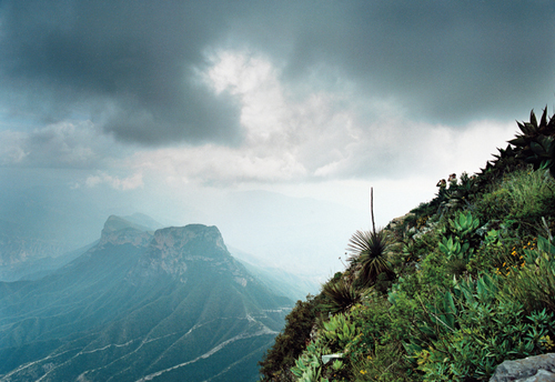 View of the Sierra Gorda Biosphere Reserve from an Audubon magazine article by Scott Weidensaul with: Photograph by Ewan Burns, Published: May-June 2009.